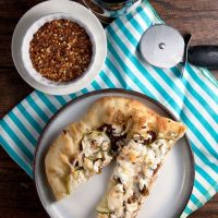 Sundried Tomato and Zucchini Pizza with Goat Cheese #SundaySupper
