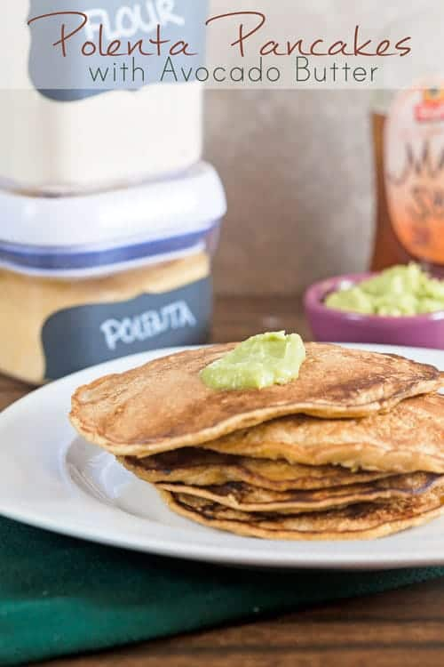 Cheddar and Polenta Pancakes with Avocado Butter + A Peek Inside My Cabinets 1