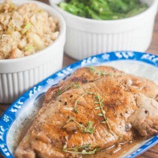 Pork Chops with Cider Pan Sauce
