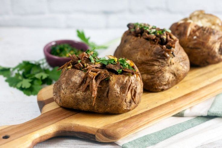 Pot Roast Stuffed Baked Potatoes with Gremolata 1