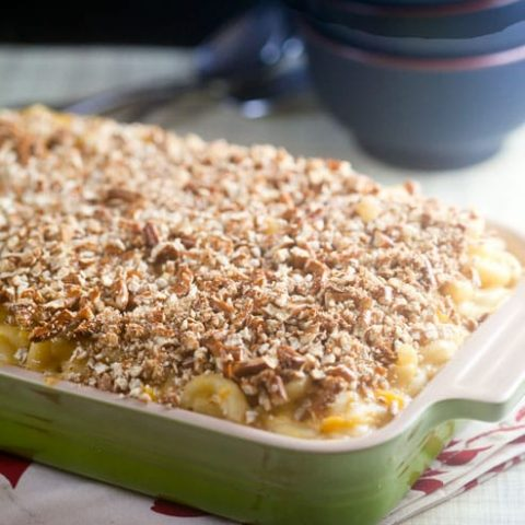 Pretzel Crusted Butternut Mac and Cheese