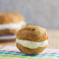 Pumpkin Whoopie Pies with Bourbon Cream