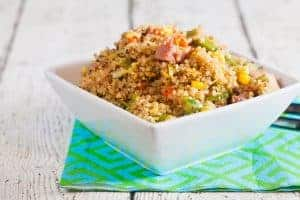 Quinoa Fried Rice – A great way to use leftover ham 1