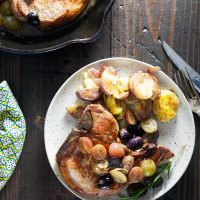 Pan Roast Pork Chops with Grapes (Whole 30)