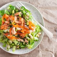 Ginger-Miso Glazed Salmon Salad in a Jar