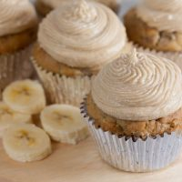 Dairy Free Banana Cupcakes with Brown Sugar Buttercream