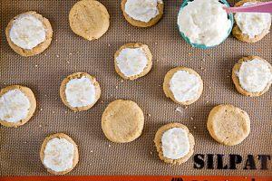 Soft Pumpkin Cookies with Vanilla Bean Buttercream 1