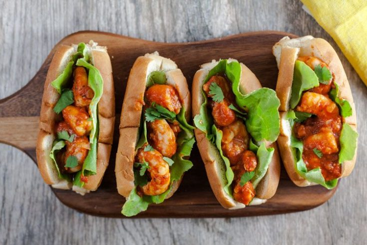 Spicy Sriracha Shrimp Rolls 1