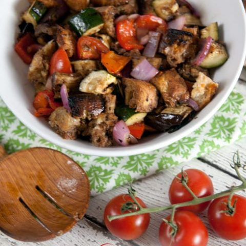Grilled Vegetable Panzanella {Progressive Eats}