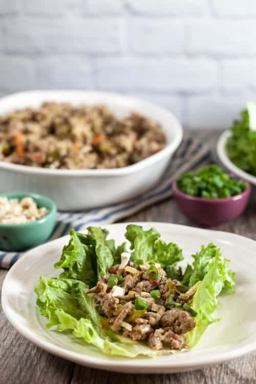 Thai Turkey Lettuce Wraps 1