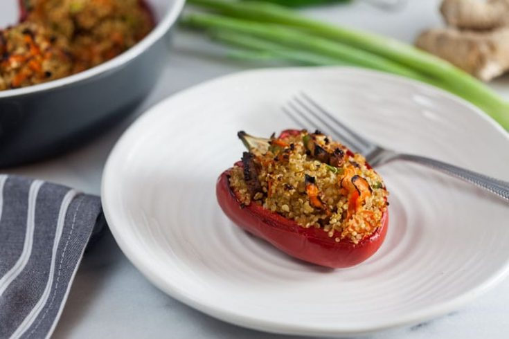 Quinoa Stuffed Peppers with Smoked Tofu 1
