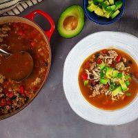Turkey Enchilada Soup