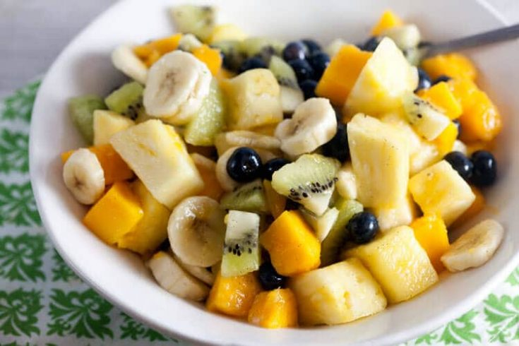 Tropical Fruit Salad with Vanilla and Lime 1