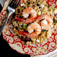 Warm Barley Salad with Roast Shrimp