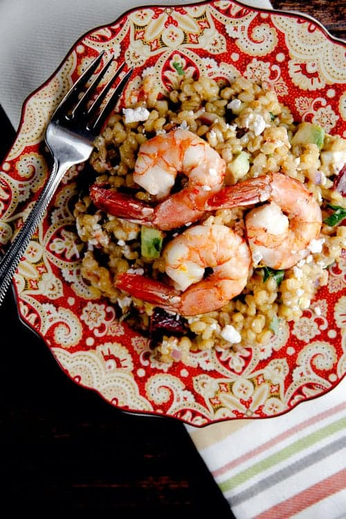 Warm Barley Salad with Blood Orange Vinaigrette 1