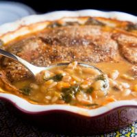 Canadian Bacon and White Bean Pot Pie