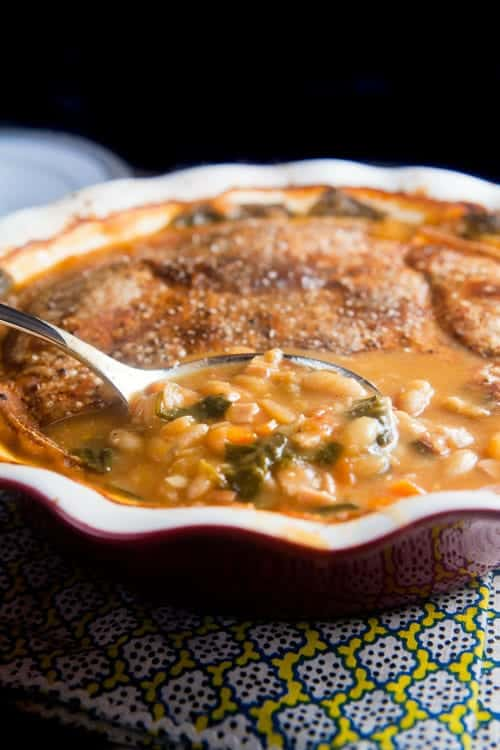 Canadian Bacon and White Bean Pot Pie 1