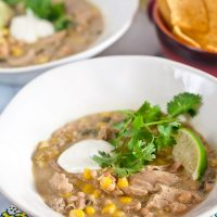 White Chicken Chili {Progressive Eats}