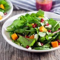 Pomegranate + Roasted Butternut Squash Salad