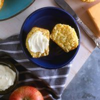 Apple Cheddar Corn Muffins with Honey Butter