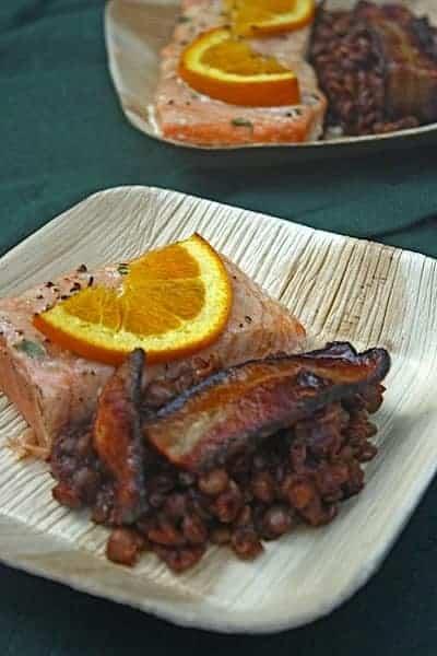 Smokey BBQ Baked Lentils, Cedar Plank Salmon 1