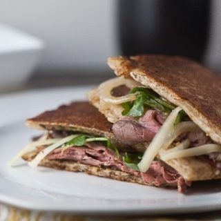 Roast Beef, Caramelized Onion + Gruyere Panini