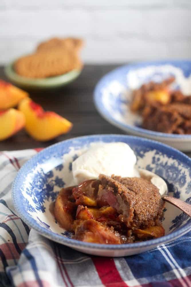 Biscoff Peach Cobbler 1