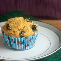 Blueberry Honey Cornmeal Muffins