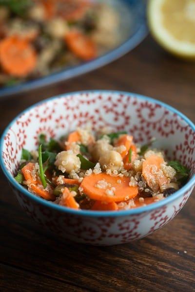 Carrot, Quinoa & Pistachio Salad 1