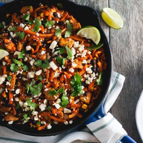 Chicken Enchilada Sweet Potato Noodles