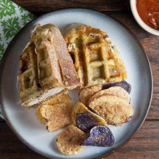 Italian Chicken Panini in a Waffle Iron
