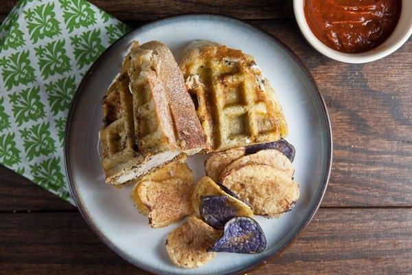 Italian Chicken Panini {In a Waffle Iron!} 1