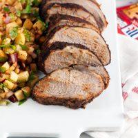 Chili Rubbed Pork Loin with Apple Salsa (Gluten Free)