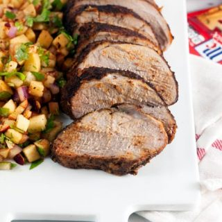 Chili Rubbed Pork Loin with Apple Salsa (Gluten Free)