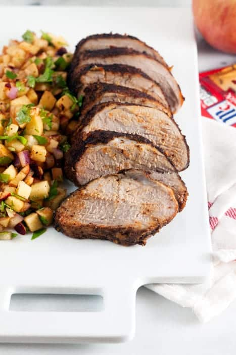Chili Rubbed Pork Loin with Apple Salsa (Gluten Free) 1