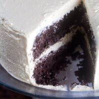 Chocolatiest Chocolate Cake {with Eggnog Icing!}