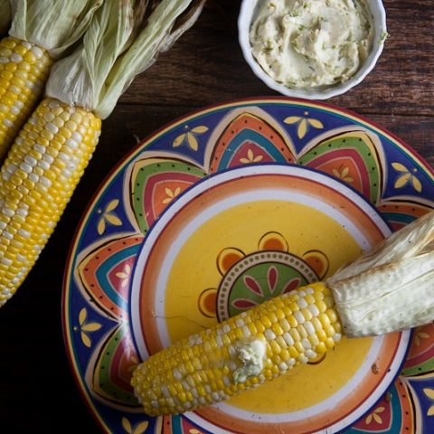 Grilled Corn with Lime-Cayenne Butter