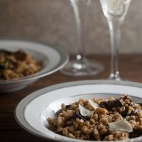 Farro Risotto with Roast Mushrooms