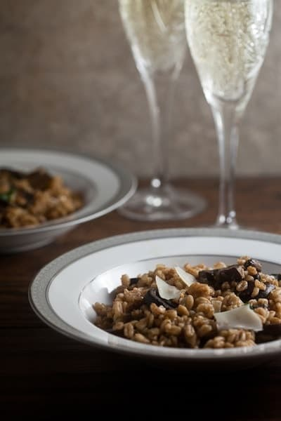 Farro Risotto with Roast Mushrooms 1