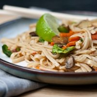 Spicy Ginger Noodles {with Shrimp}