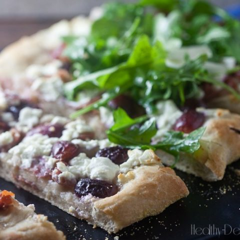 Roasted Grape + Goat Cheese Flatbread