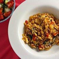 Baked Orzo with Lamb
