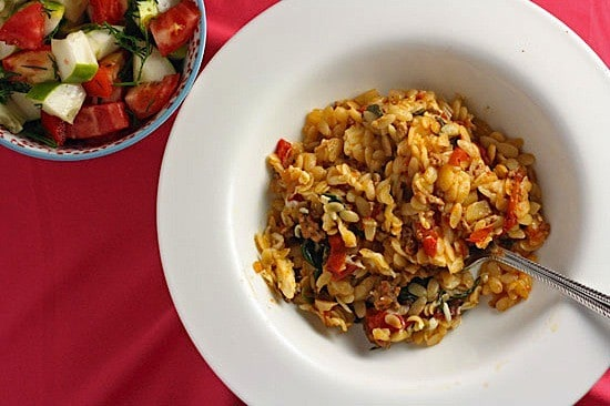 Baked Orzo with Lamb 1