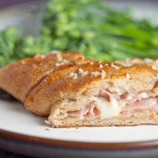 Ham and Cheese Stuffed Pretzel Pockets