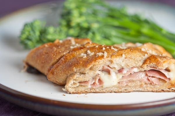 Ham and Cheese Stuffed Pretzel Pockets 4