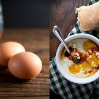Baked Eggs in Spicy Sauce