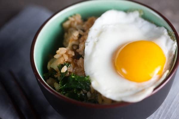 Kimchi + Kale Fried Rice 1