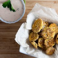 """Fried"" Pickles with Southwest Ranch Dipping Sauce 5"