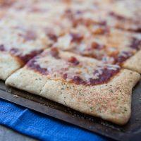 Cheddar, Bacon, Onion Pizza on Ranch Crust