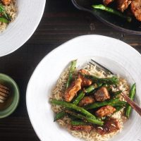Honey Ginger Pork Stir Fry with Green Beans